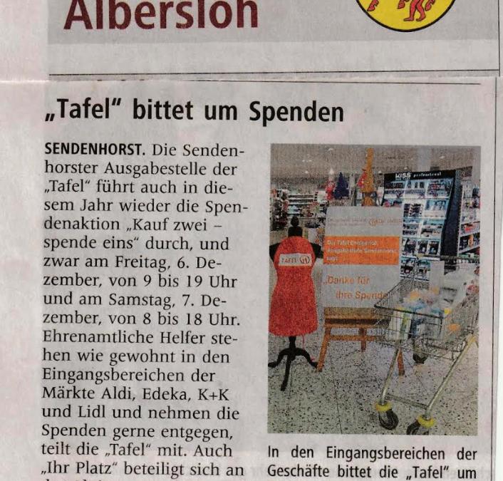 Kauf 2 Spende 1 Sendenhorst
